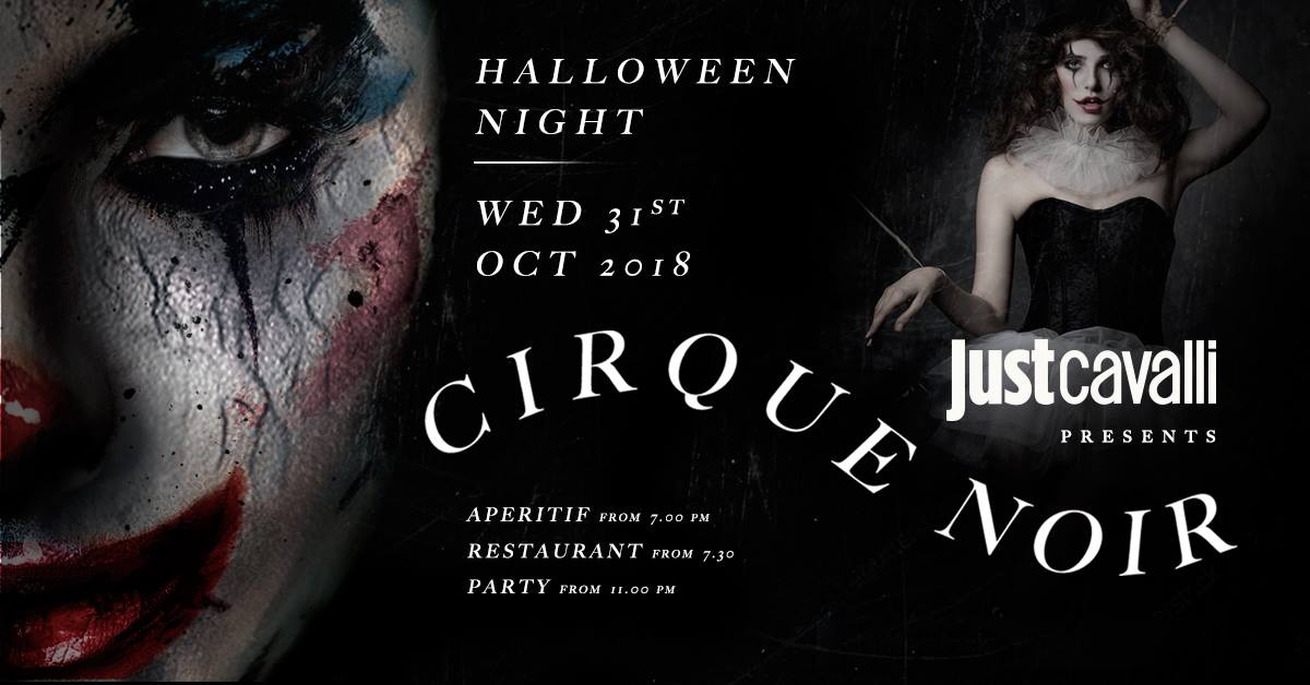 Halloween Just Cavalli Milano mercoledì 24 Ottobre 2018