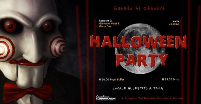 Halloween Le Banque Milano mercoledì 31 Ottobre 2018
